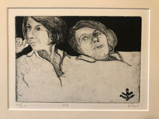 #8 DOUBLE PORTRAIT OF PHYLLIS, 1965, soft-ground etching, 14 3/4 x 17 3/4 x inches. Richard...