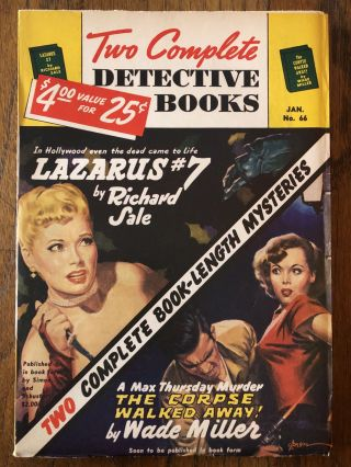 TWO COMPLETE DETECTIVE BOOKS. No. 66. January, 1951