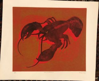 RED CRUSTACEAN (Original Woodblock)