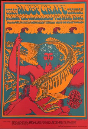 Rock Poster) M0BY GRAPE & NEPTUNE NOTION. 1967. Family Dog Presents. Victor Moscoso