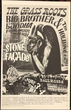 Rock Poster) A STONE FACADE, THE GRASS ROOTS, BIG BROTHER & THE HOLDING COMPANY. Family Dog Presents