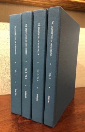 THE ARCHITECTURE OF HANS HOLLEIN: Buildings and Projects 1954-1994. (Three volumes). Lawrence Von...