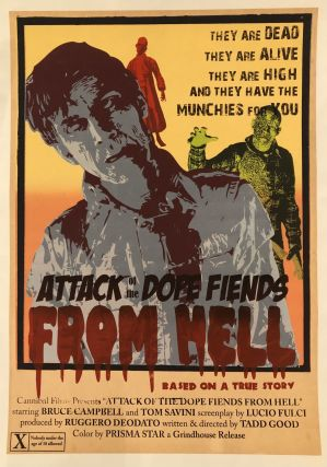 ATTACK OF THE DOPE FIENDS FROM HELL. (Original Vintage Movie Poster