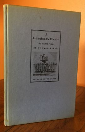 A LETTER FROM THE COUNTRY And Other Poems.