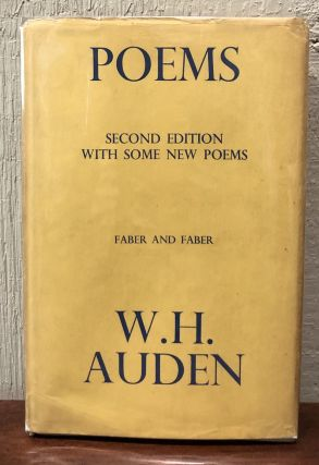 POEMS. Second Edition With Some New Poems. W. H. Auden