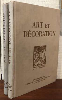 ART ET DECORATION, Revue Mensuelle d'art Moderne. (Two Volumes- 1927 Complete